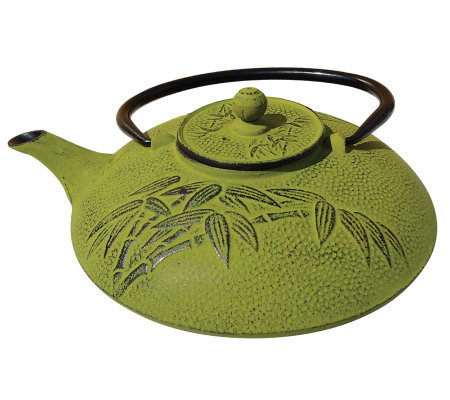 Old Dutch Moss Green Cast Iron 26-oz Teapot