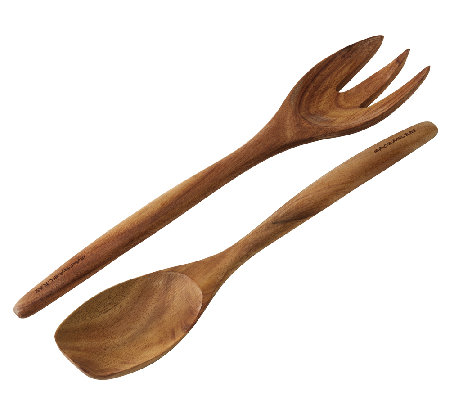 Rachael Ray Cucina Tools 2-Piece Wooden Salad Utensil Set