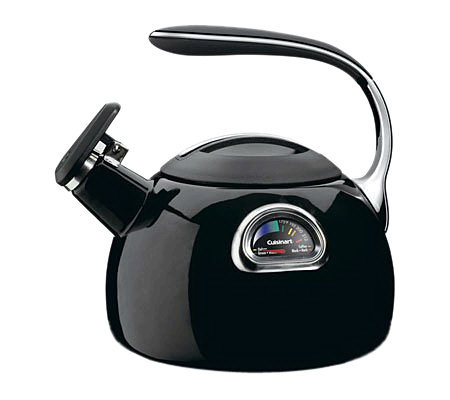 Cuisinart PerfecTemp 3-Qt Teakettle - Black Porcelain Enamel