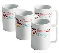 Cake Boss 4-Piece Porcelain Mug Set - K302471