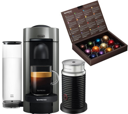 nespresso vertuo plus coffee machine with frother by delonghi page 1. Black Bedroom Furniture Sets. Home Design Ideas