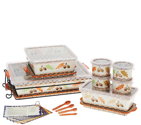 Temp-tations Old World 16-pc Essential Oven-to-Table Set