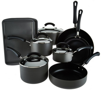 CooksEssentials 13-piece Dishwasher Safe Hard Anodized Cookware Set - K43371