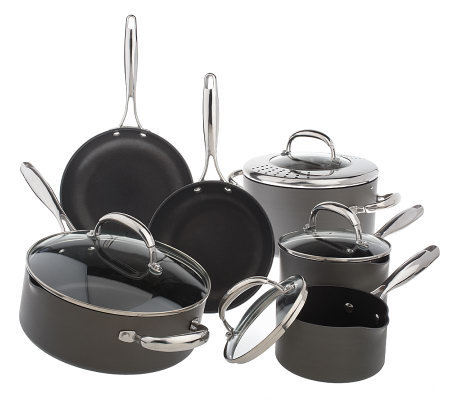 Technique Hard Anodized Dishwasher Safe 10-pc. Cookware Set