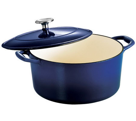 Tramontina Gourmet Enameled Cast-Iron 5.5-qt Round Dutch Oven