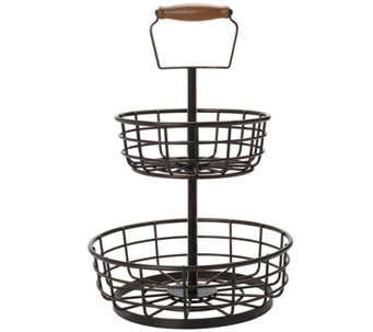 Gourmet Basics by Mikasa Thread 2-Tier Basket - K304772