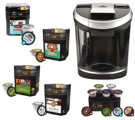Keurig Vue V700 Brewer with 66 Vue Packs, Water Filter & 2 Tumblers