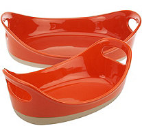 Rachael Ray 2-piece Half Dipped Oval Baker Set - K44672