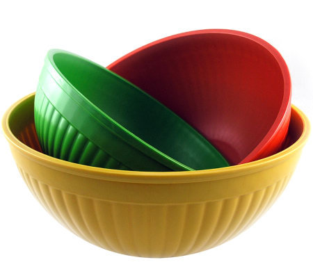 Nordic Ware 3-piece Prep and Serve Bowl Set