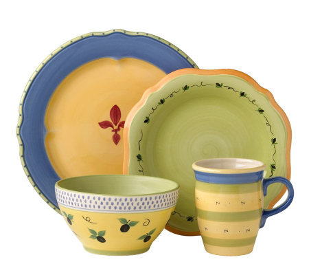 Pfaltzgraff 16-piece Dinnerware Set - PistouletBlue
