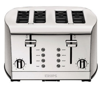 Krups Breakfast Set 4-Slice Toaster - Silvertone - K302273