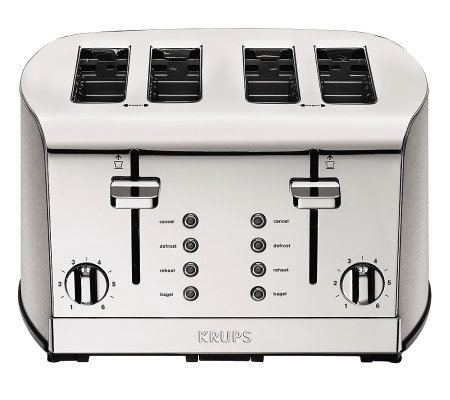 Krups Breakfast Set 4-Slice Toaster - Silvertone