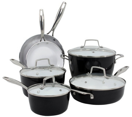 Oneida 10-Piece Forged Aluminum Cookware Set -Black