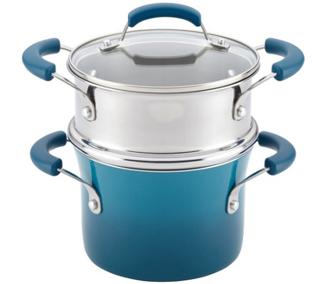 Rachael Ray 3-Qt Nonstick Sauce Pot and SteamerInsert Set
