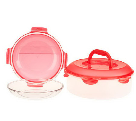 Lock & Lock 2-Piece Glass Pie Dish & Storage Set