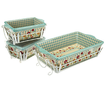 Temp-tations Gingham Gardens 9 Piece Oven to Table Set