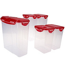 Lock & Lock 5 piece Pantry Storage Set with Color Lids - K42773