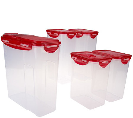 Lock & Lock 5 piece Pantry Storage Set with Color Lids