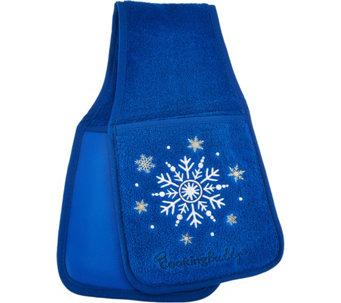 Cooking Buddy Embroidered Holiday Towel & Pot Holder - K44573