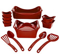 Rachael Ray Bubble & Brown 13-piece Square Bakeware Set - K44873