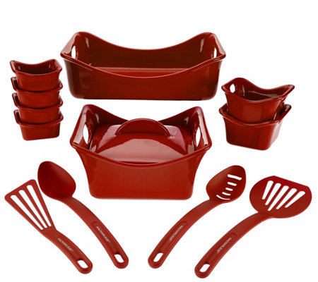 Rachael Ray Bubble & Brown 13-piece Square Bakeware Set