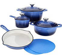 Cook's Essentials 7-pc. Gradient Cast Iron Cookware Set - K46573
