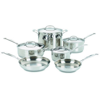 Cuisinart 10-piece Chef's Classic Stainless Cookware Set - K118274