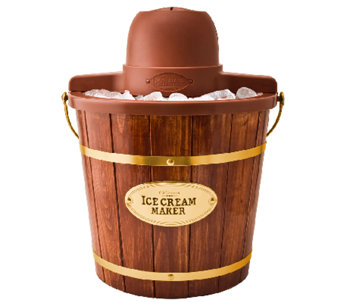 Nostalgia Electrics 4-Qt Wood Bucket Electric Ice Cream Maker - K299474