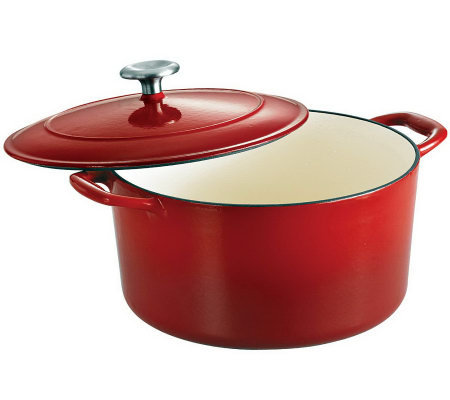 Tramontina Gourmet Enameled Cast-Iron 6.5-qt Round Dutch Oven