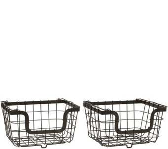 Gourmet Basics by Mikasa General Store S/2 Nesting Baskets - K304774