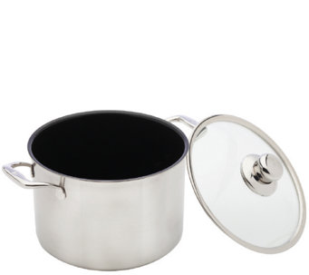Swiss Diamond Prestige Clad 7.9-qt Stock Pot w/Lid - K305874