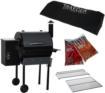 Traeger Lone Star Elite 525 Square Inch Wood Fired Grill & Smoker - K43474