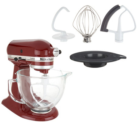 KitchenAid 5-qt 325W Tilt Head Stand Mixer w/ Glass Bowl & Flex Edge