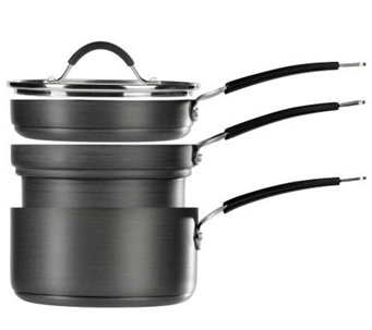 Tabletops Gallery Stax Living 4-Pc Sauce Pan Set - New Delta - K299775