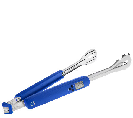 Cooks Essentials Grill Tongs w/Temp Reader