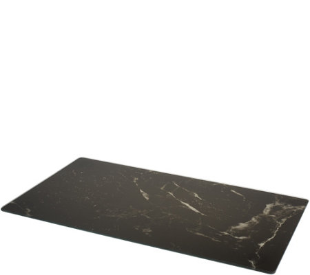Instant Counter Natural Stone Design Glass Burner Cover & Prep Board