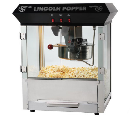 Black Lincoln 8-oz Antique-Style Popcorn Machine