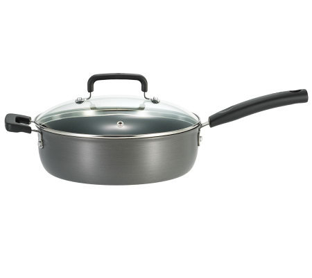 "T-Fal 10"" Signature Hard Anodized Covered Skillet"