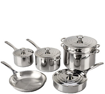 Le Creuset Stainless Steel 10-Piece Cookware Set - K303576