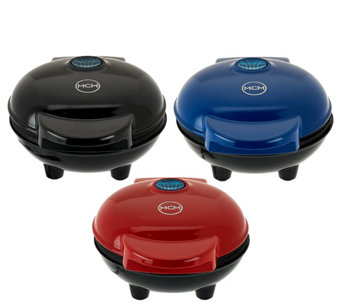 """As Is"" Yes Chef! Set of 3 Personal Griddles with Gift Boxes - K307676"