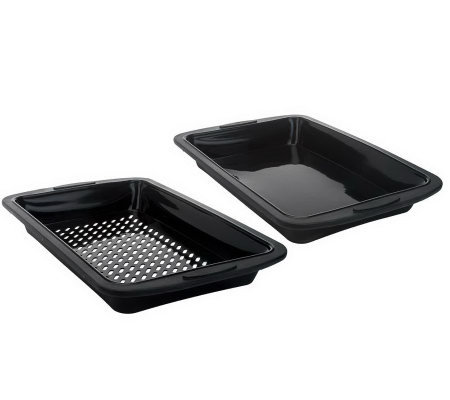 Prepology Set of 2 Silicone Smoker Trays
