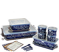 Temp-tations Floral Lace 16-pc Essential Oven-to-Table Set - K41976