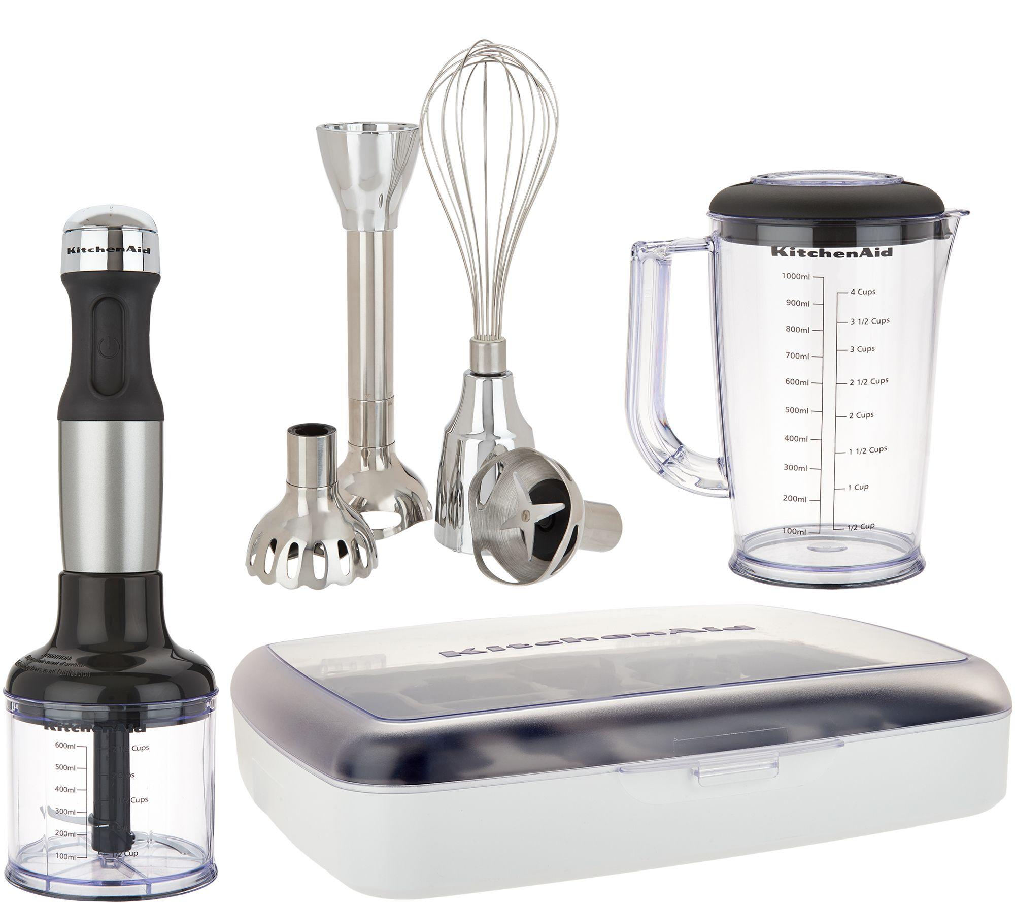 KitchenAid 5 Speed Hand Blender with Attachments and Storage Case