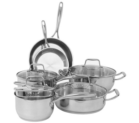 Oneida 10-Piece Stainless Steel Cookware Set
