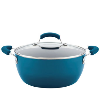 Rachael Ray Hard Enamel Nonstick 5.5-Quart Covered Casserole - K305777