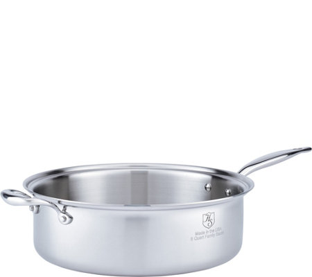 Hammer Stahl Stainless Steel Clad 8-qt CoveredSaute Pan
