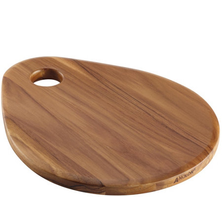 "Anolon Teakwood Pantryware Teardrop 12.5"" x 10""Cutting Board"