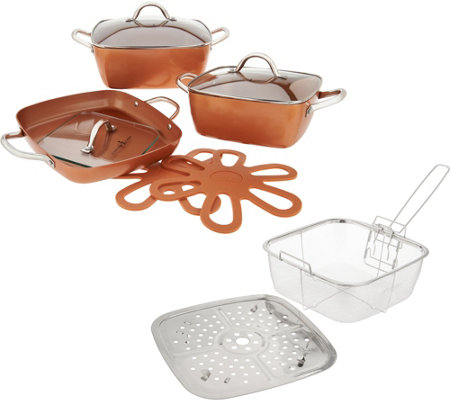 Copper Chef 10-Piece Cerami-Tech Nonstick Cookware Set