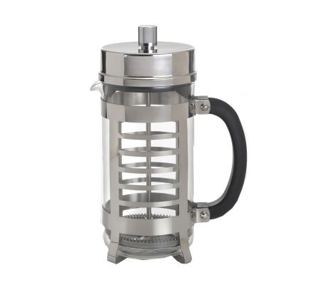 BonJour 8-Cup Linear French Press in Polished Stainless Steel