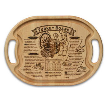 "Solid Maple Oval 15"" x 21"" x 3/4"" Turkey Board - K129978"